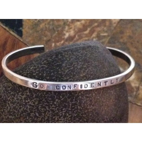 "Image of ""Go Confidently ~ In the Direction of your Dreams""  Sterling Bracelet"