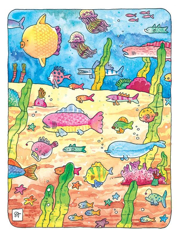 Image of Fantastic Fish - Print