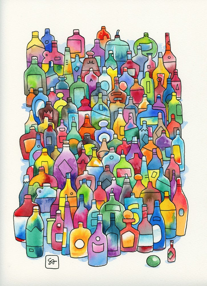 Image of Bottles - Print
