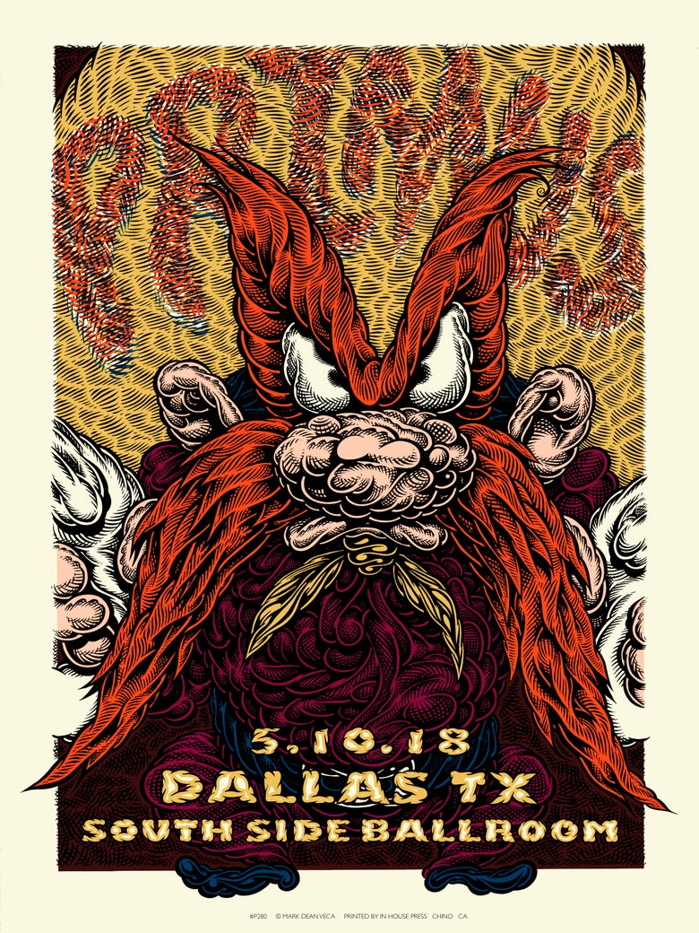 Image of Primus Gig Poster: Back Off, 2018