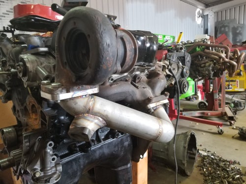 Image of Z31 turbo relocation pipe
