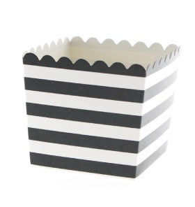 Image of Black Stripe Scallop Favour Box