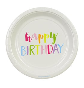 Image of Rainbow Happy Birthday Cake Plates