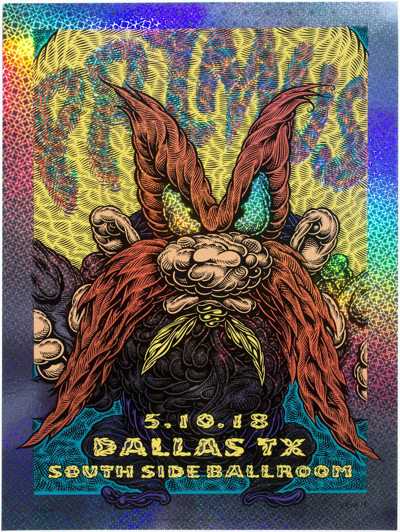 Image of Primus Gig Poster: Back Off, 2018 (Kaleidoscope Foil)