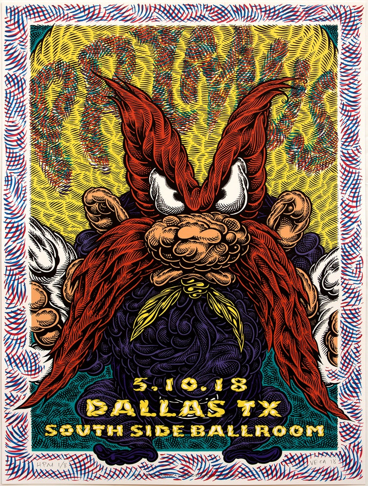 Image of Primus Gig Poster: Back Off, 2018 (Hand-Painted Multiple)