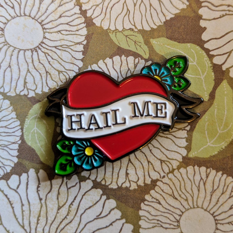 Image of Hail Me Lapel Pin Locking Back - may take 2-4 weeks to ship