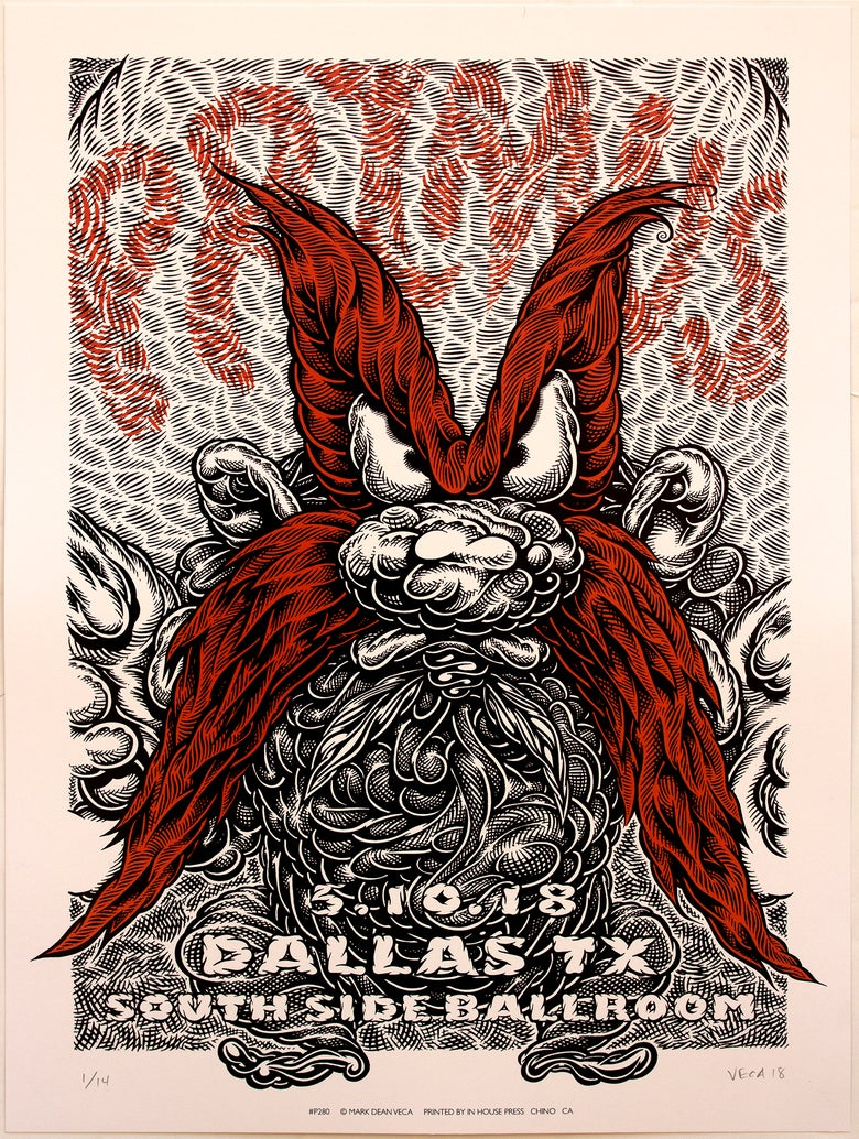 Image of Primus Gig Poster: Back Off, 2018 (Black & Red)