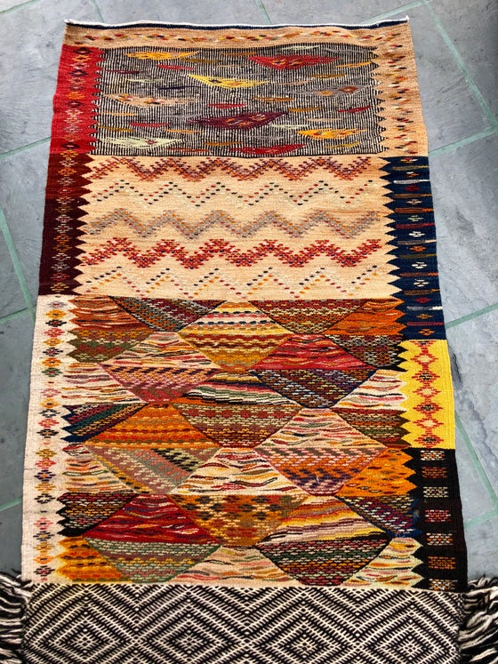 Image of Moroccan Zanafi and Ait Ouarda Berber Marriage Kilim