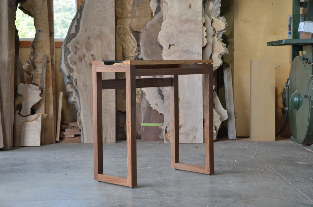 Image of maple + walnut river console table