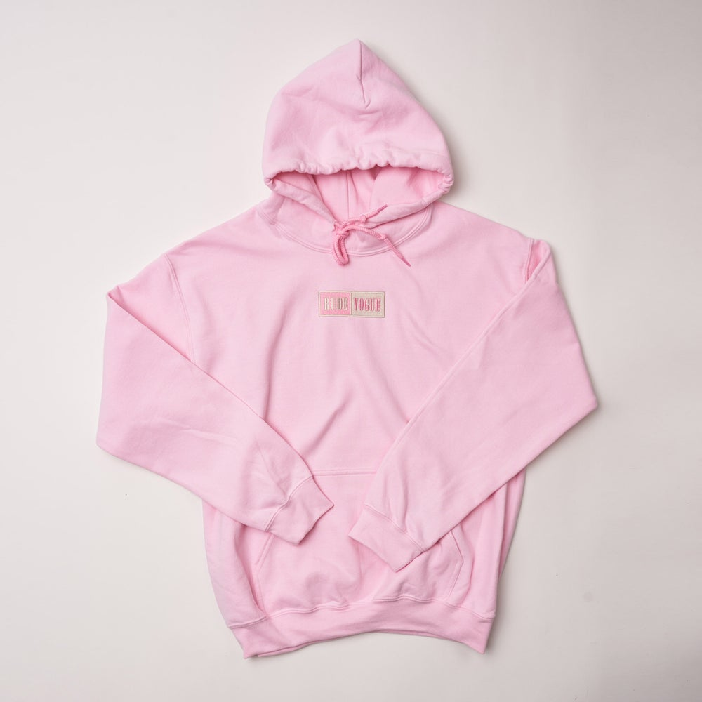 Image of Millennial Pink/Sand Warm Up Hoodie