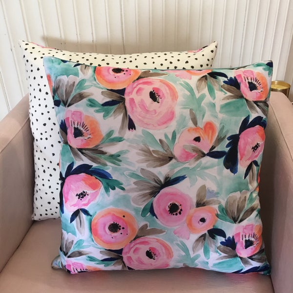 Image of Spring floral cushion