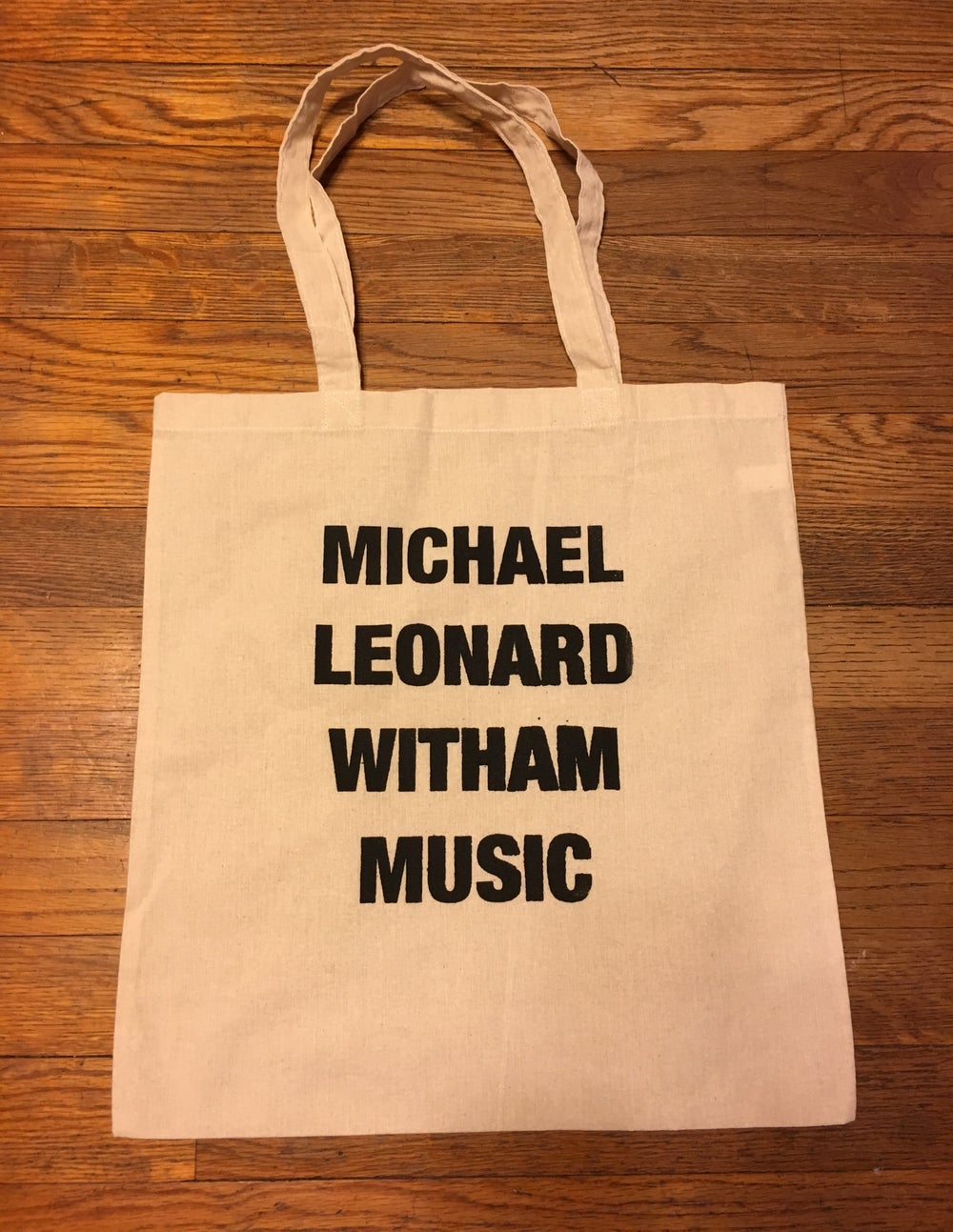 Image of Michael Leonard Witham Music Canvas Tote