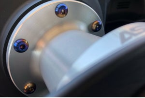 Image of Chasing JS Titanium Steering wheel/ hub spacer Bolts (button style)