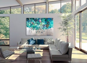Image of Sonitus aqua - 152x100cm
