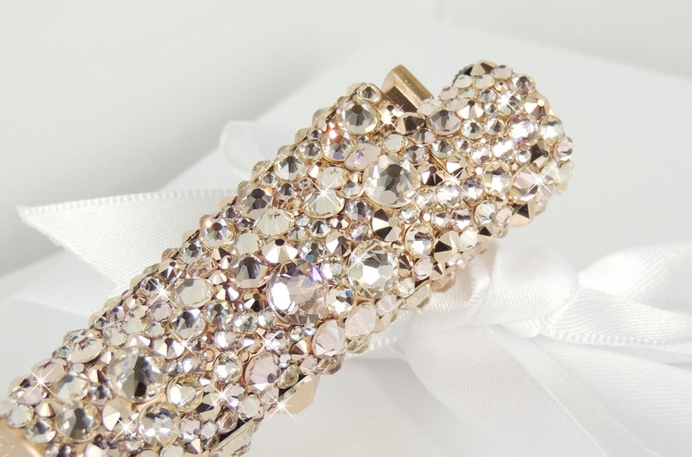 Image of Rose Gold & Grace Clipper Lighter. Crystals by Swarovski®