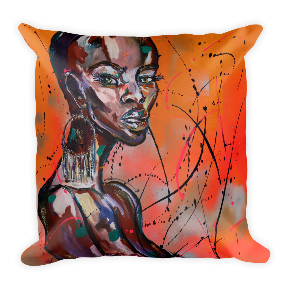 """Image of """"Devoted"""" Throw pillow"""