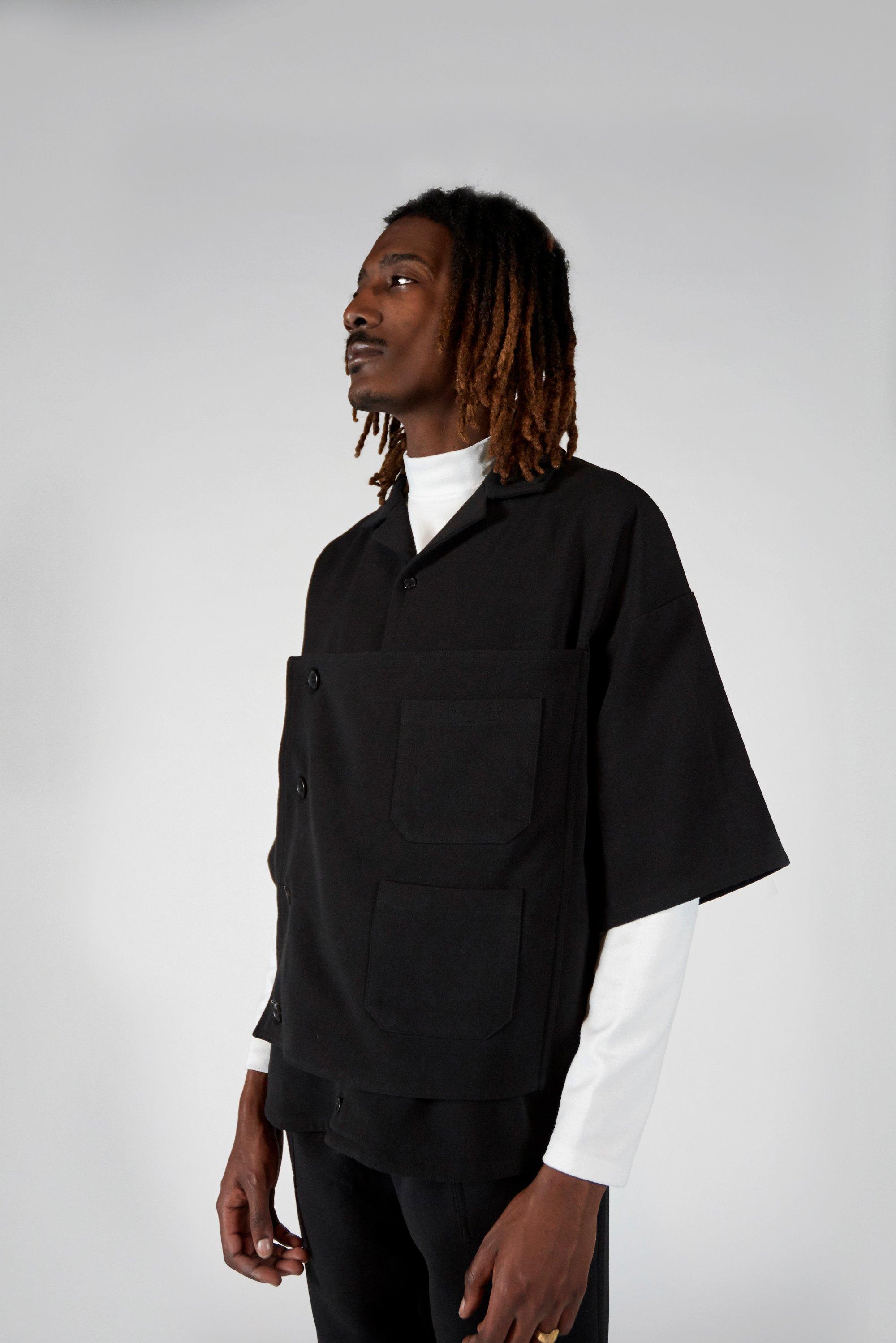 Image of BLACK OVERSHIRT - SILHOUETTE 01™