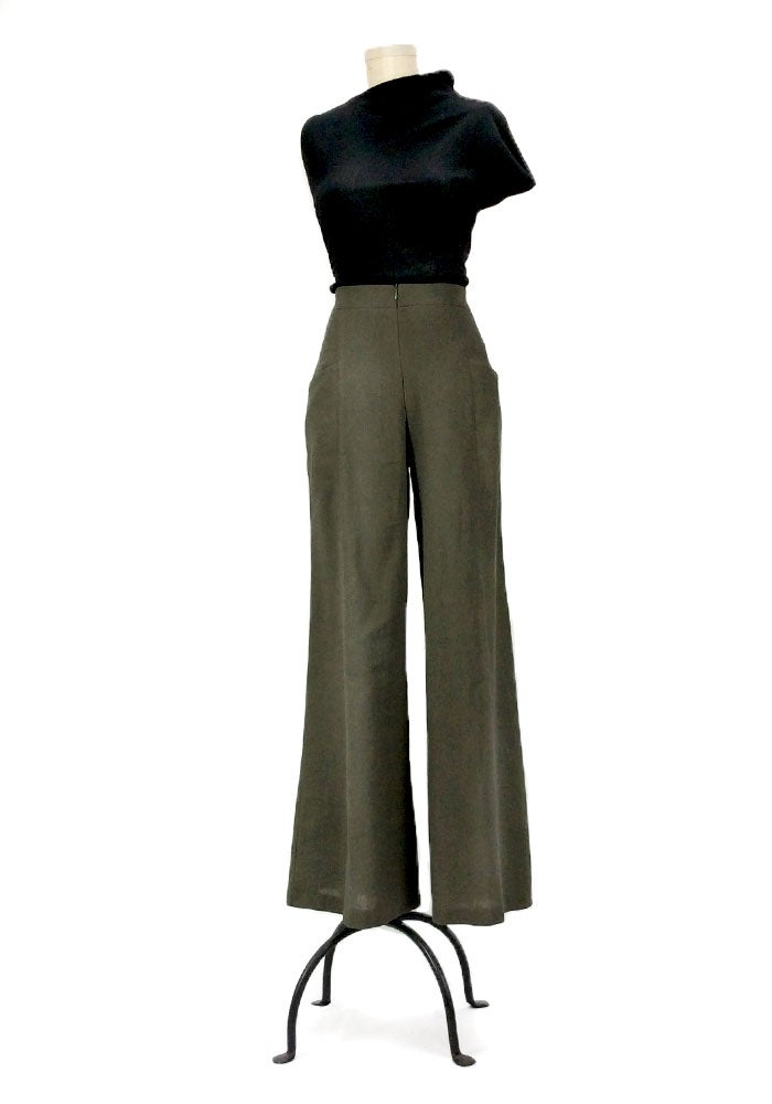 Image of Kate Hepburn Pants (Olive)