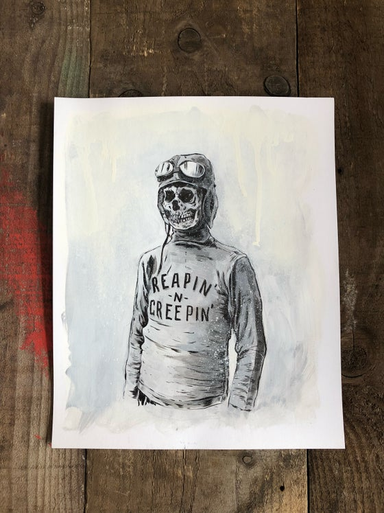Image of ORIGINAL - Reapin' Creepin' painting
