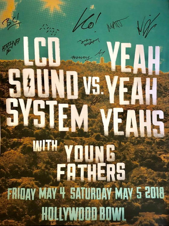 Image of LCD SOUNDSYSTEM/YEAH YEAH YEAHS HOLLYWOOD BOWL Artist Proof