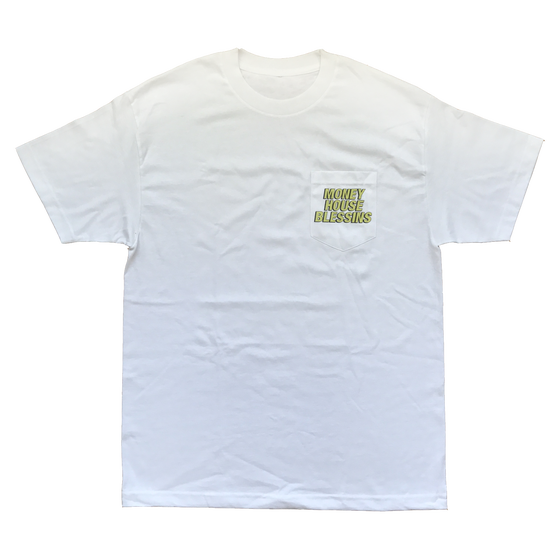 Image of MONEY HOUSE BLESSINS Pocket Tee (White and Black)