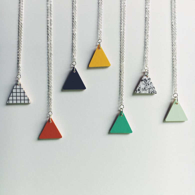 Image of Small Triangle Necklace