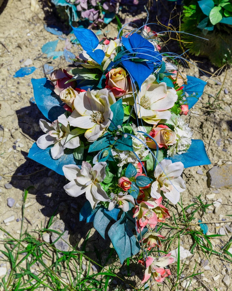 Image of Grave flowers