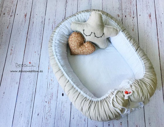 Image of BABY CUCO/NEST LINO ( Beige y Gris )