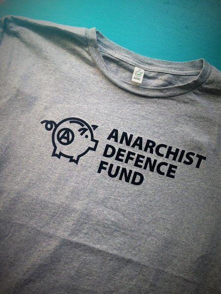 Image of Anarchist Defence Fund t-shirt Grey