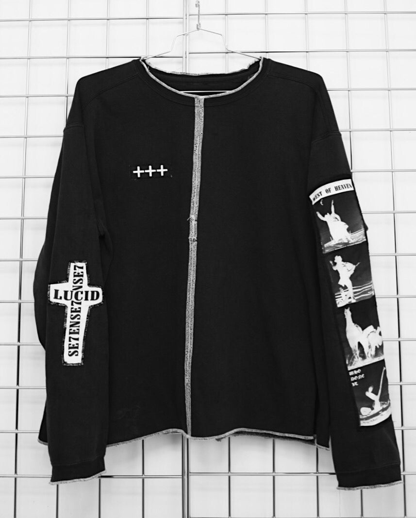 Image of WESTERN SWEATER (BLACK/WHITE)