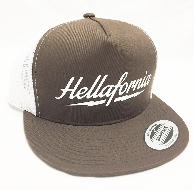 Image of Brown & White Lightning Trucker Hat