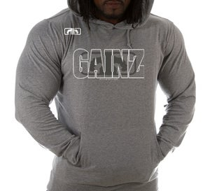 Image of Men's GAINZ 2.0 BLOWN Lightweight Beach Hoody - H Gray