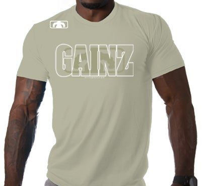 Image of Men's GAINZ 2.0 BLOWN T Shirt - Sand