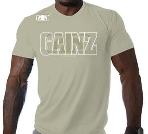 Image of Men's GAINZ 2.0 BLOWN T Shirt - Sand