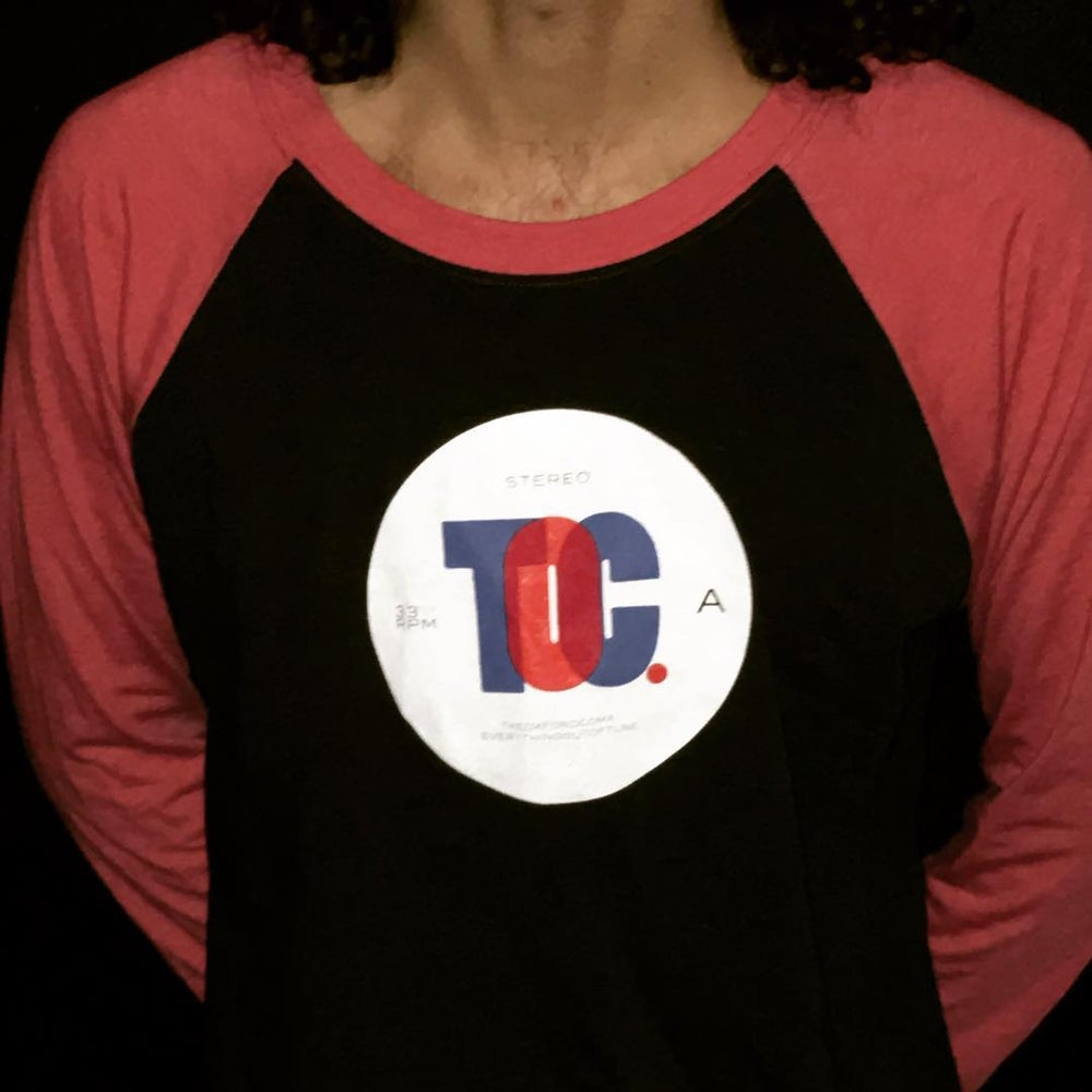 Image of 3/4 Sleeve LP Label t-shirt