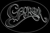 Image of Georgia Oval Black Sticker