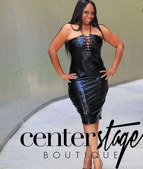 Image of LIQUID leather dress