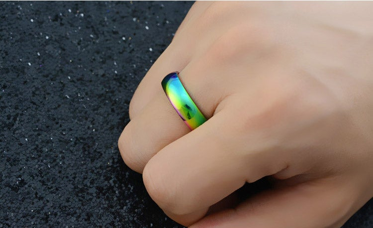 Image of 6mm rainbow ring
