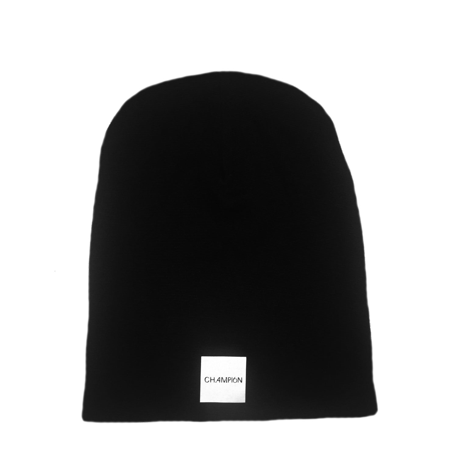 Image of unisex reversible beanie - black