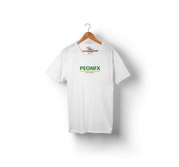Image of PEONFX - FIND YOURSELF TEE (WHITE)