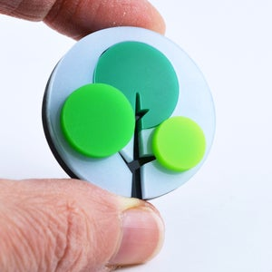 Image of Spring Summer Autumn Tree Brooches