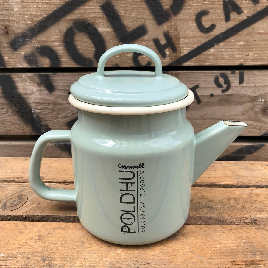Image of POLDHU Vintage Tea/Coffee Pot - PASTEL GREEN
