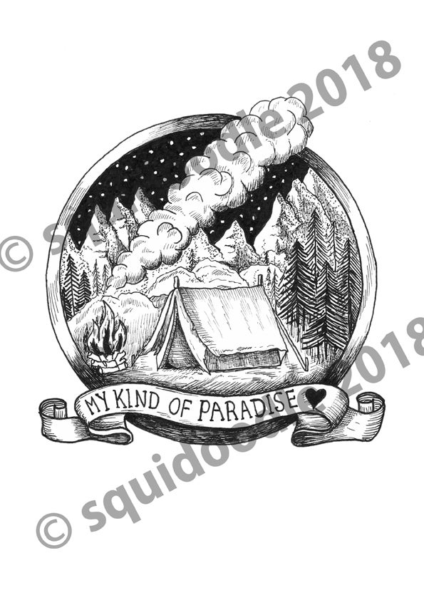 Image of My Kind of Paradise - Limited Edition handsigned print.