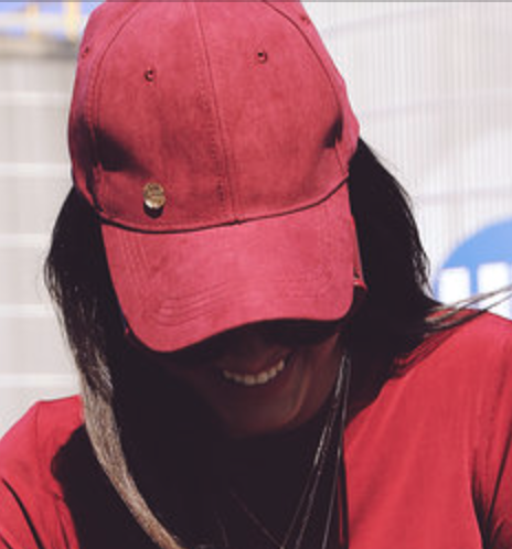 Image of Suede Logo Cap - Wine