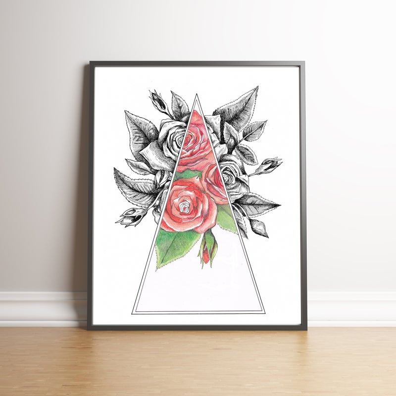 Image of Abstract Roses - Limited Edition handsigned print