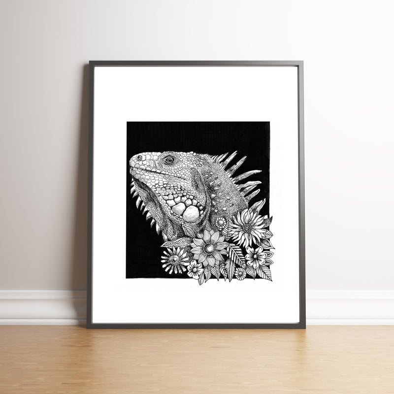 Image of The Iguana - Limited edition handsigned print