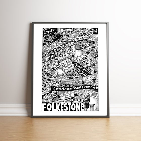 Image of Folkestone Street Names limited edition hand signed print