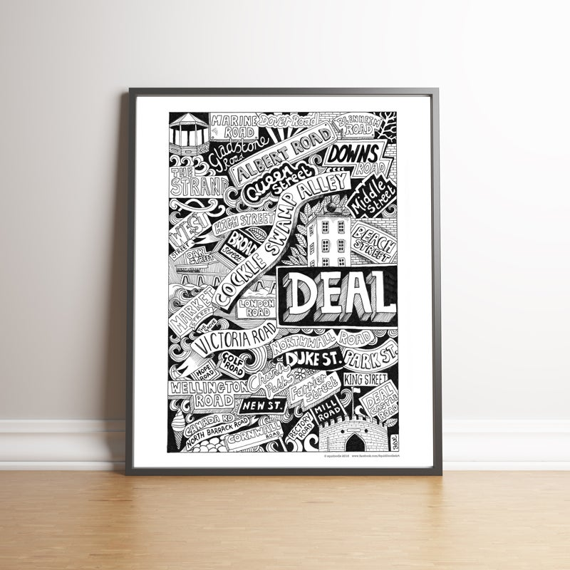 Image of Deal Street Names limited edition handsigned print