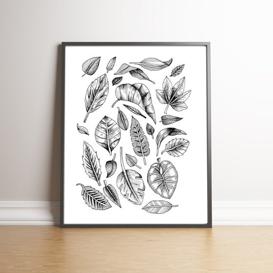 Image of Leaves - limited edition hand signed print