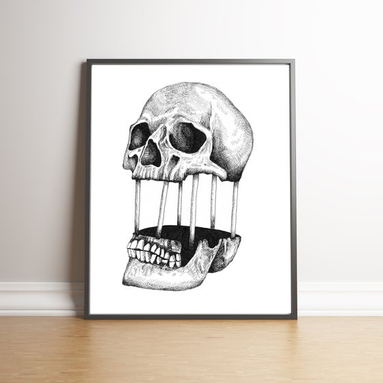 Image of Detached Skull limited edition hand signed print